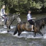 Переправа на лошадях через горную реку – незабываемое приключение для горожанина