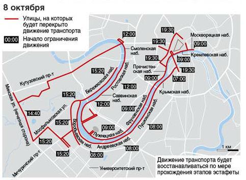 Олимпийский огонь в Москве