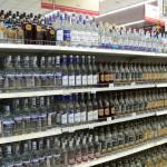 алкоголь на витрине